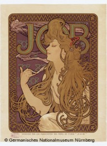 Cartaz do mestre da art noveau Alfons Mucha